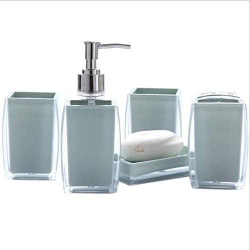 Hochzeitsgeschenk Hochwertiges Badezimmer-Zubeh/ör-Set mit Acryl-Kristallen Zahnb/ürstenhalter lila Becher und Seifenschale inklusive Seifenspender