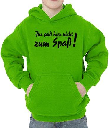 Touchlines Sweatshirt Ihr Seid Hier Nicht zum Spaß Sweat-Shirt, Vert (Real Green), 128 cm Mixte bébé