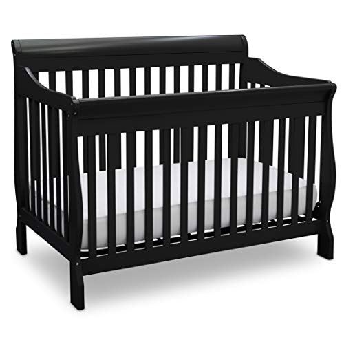 Delta Children Canton 4-in-1 Convertible Baby Crib, Black