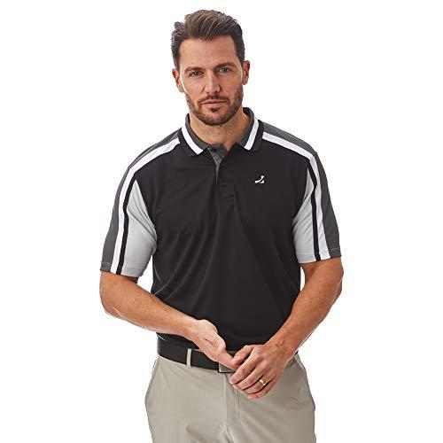 Under Par Polo de Golf para Hombre, de Calidad Profesional, Transpirable, 8 Estilos, 18 Colores, para Golf, Golf, Hombre, Polo de Golf, UPTS1784_BLCWS_L, Style 1784 - Negro/Carbón/Blanco/Tormenta, L