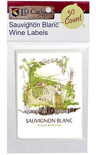 Sauvignon Blanc Self Adhesive Wine Labels 30 count