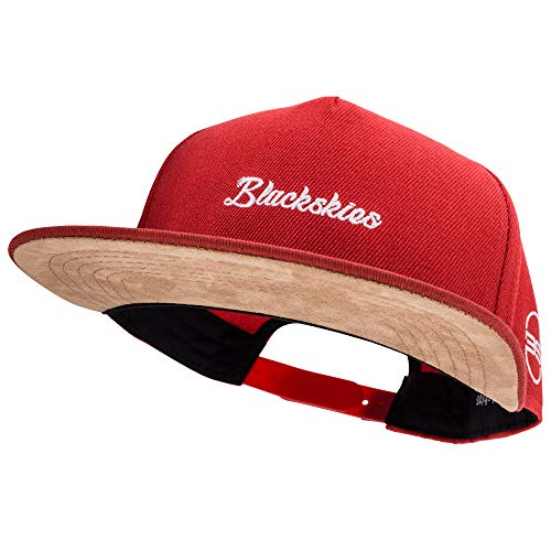 Blackskies Snapback Cap Herren Damen Baseball Mütze Kappe Wildleder Basecap, Horizon, Einheitsgröße