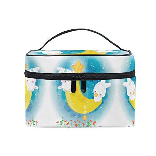 Lapin Aquarelle Lune Buuny Trousse Sac de Maquillage Toilette Cas Voyage Sac Organisateur Cosmétique Boîtes pour Les Femmes Filles