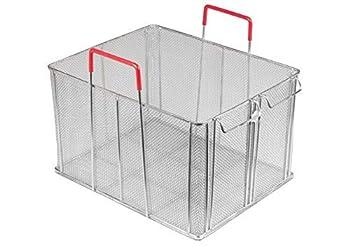 Winco MPN-1613 16.5   x 13.5   x 10   Stainless Steel rectangle Bulk Pasta Basket Food Strainer Commercial Boil Basket