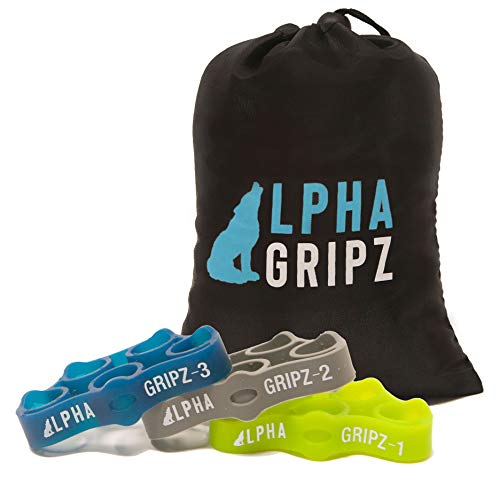ALPHA GRIPZ 3-Level Complete Grip Strengthening Alpha Set, Light, Moderate, and Heavy Resistance