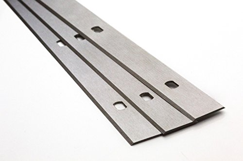12 Stück Hobelmesser Wendemesser Systemhobelmesser Hohe Qualität – Hochleistung - Made in Germany - Hobelmaschine (320x17,2x1mm (2 Löcher 175mm Lochabstand) Scheppach)