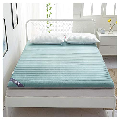 Mattress Tatami, Non-Slip, Single/Double Student Dormitory, Fabric,Soft and Comfortable, no harm to Skin, Healthy and Environmental Protection,Blue,120200cm/4779inch