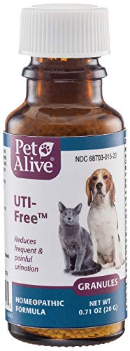 PetAlive UTI-Free - Natural Homeopathic Formula for UTI's, Cystitis and Incontinence in Cats and Dogs - Supports Bladder and Urinary Tract Health in Pets - 20g