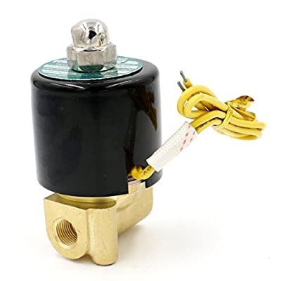 Baomain 1/8 Inch Brass Electric Solenoid Valve for Air Water Valve N/C ( Normally Closed ) 12V by Baomain Electric Co.,Ltd
