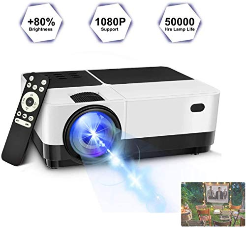Leifeng Tower Intelligent new projector Projector, 2800 Lumens LED Portable Projector, Video Projector for Home Theater Games and Outdoor (Compatible for PS4/Laptop/XBOX/SD/AV/USB) [Upgraded]