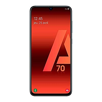Samsung Galaxy A70 - Smartphone 4G (6,7'' - 128GO - 6 GO RAM) - BLACK - Version France-P-UK