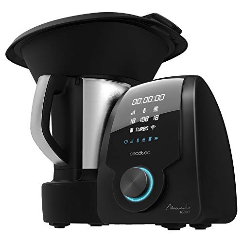 Cecotec Robot de Cocina Multifunción Mambo 10090, App, Cuchara MamboMix, Jarra Habana con revestimiento cerámico, 30 Funciones, Jarra de acero inox 3,3l apta para lavavajillas, Báscula incorporada