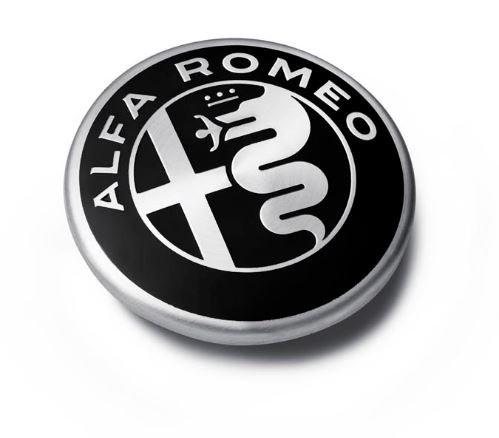 Alfa Romeo Giulia & Stelvio 71808019 - Juego de tapas centrales de llantas de aleación, color negro
