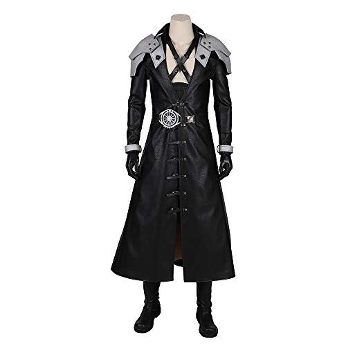 Lydia's Anime Cosplay Kleidung Final Fantasy 7 Remastered Sephiroth Cosplay Feste Stage Performance Anzug Weihnachten Halloween-Abendkleid Für Erwachsene Tragen with Shoes-Man-L