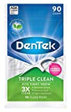 DenTek Triple Clean Floss Picks, Mouthwash Blast, 90 Picks each (Value Pack of 3)
