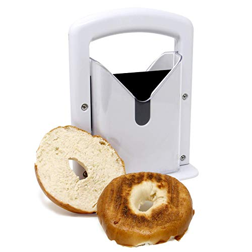 Bagel Slicer Guillotine | Perfectly Even Cut Bagels Every Time | Precision Slicer For Toasters |...