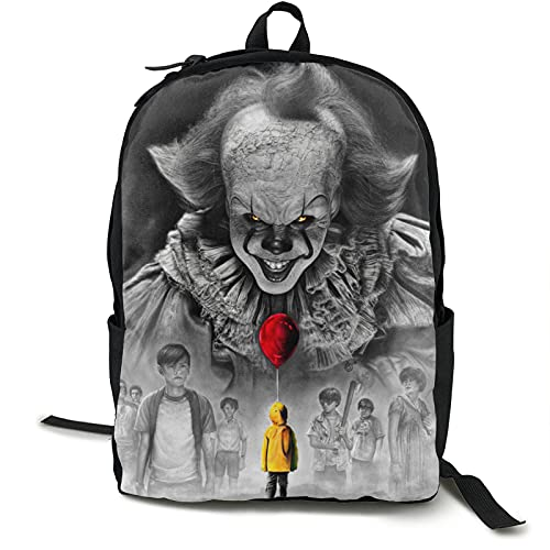 Pennywise It Classic Horror Movie Backpack 15-Inch Laptop Backpack Leisure Backpack Travel Bag
