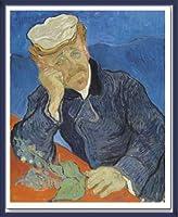 ポスター フィンセント ファン ゴッホ Dr Paul Gachet 1890 額装品 ウッドベーシックフレーム(ブルー)