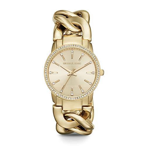 Michael Kors Women's Lady Nini Quartz Watch with Stainless Steel Strap, Gold, 18 (Model: MK3235)