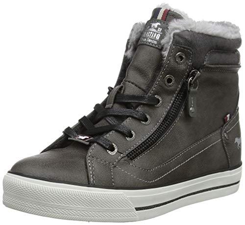 MUSTANG Damen High Top Hohe Sneaker, Grau (dunkelgrau 20), 37 EU