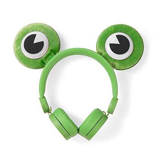 Bedrade Koptelefoon 1,2 m Ronde Kabel On-Ear Afneembare Magnetische Oren Freddy Frog Groen
