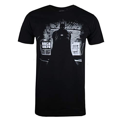 DC Comics Herren Batman Dark T-Shirt, Schwarz (Black Blk), Medium