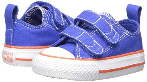 Converse Kids' Chuck Taylor All Star 2V Seasonal Low Top Sneaker, Hyper Royal/Bright Poppy/White, 6 M US Toddler