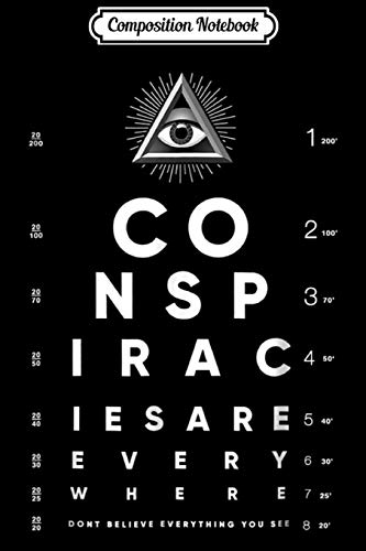 Composition Notebook: Shane Dawson All-Seeing Eye Chart Conspiracy  Journal/Notebook Blank Lined Ruled 6x9 100 Pages