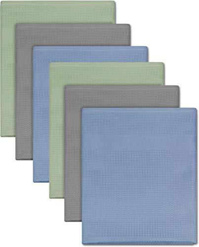 normani 9er Set Mikrofaser Geschirrhandtücher - super saugfähige Küchen-Tücher - Abtrocktücher - Geschirr-Handtuch 50cm x 70cm