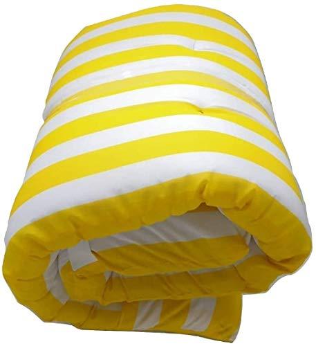 Dabuty Online, S.L. Cojín Tumbona Colchón Tumbona Acolchada Classic 180x55X5cm Texturas (Rayas Amarillo)
