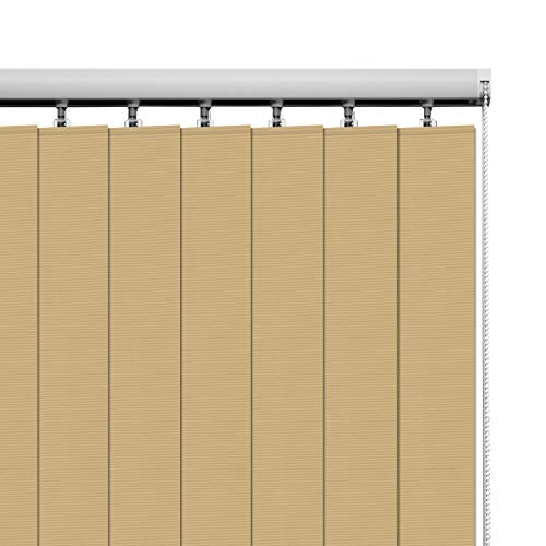 HousCa Vertical Blinds Window Shades, Stone Color Custom Light Filtering Window Blinds Energy Saving UV Protection Noice Reduce Vertical Window Blinds for Patio Doors, Windows, Sliding Doors