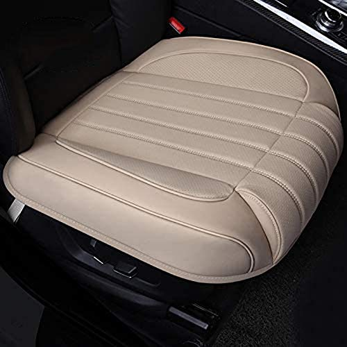 ZQTHL Car Seat Cover Cushion, Auto Bottom Front Driver & Passenger Seat Protector Pad with Leg Support Pillow /3D Edge Wrapping,for Most Vehicle,A,1PC
