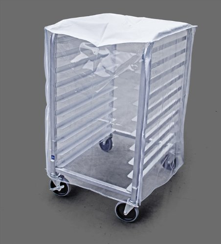 New Star Foodservice 36541 Plastic 10-Tier Commercial Kitchen Bun Pan Rack Cover, 28-Inch by 23-Inch by 33-Inch, Set of 2, Clear