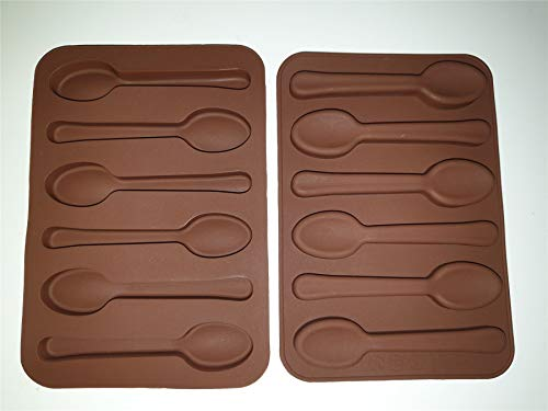 Spoon Shape Silicone Chocolate Mould/Silicone Spoon Mould/Chocolate Mould Onlineforu Ltd