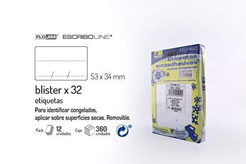 32 Etiquetas Adhesivas - Congelados 53 x 34 mm - Pack