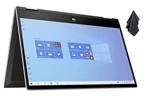 "2021 Newest HP Pavilion X360 2-in-1 Convertible 14"" HD Touch-Screen Laptop, 10th Gen Intel Core i3-1005G1(Up to 3.4GHz, Beat i5-7200U), 8GB RAM, 256GB SSD, WiFi 5, Webcam, Windows 10 S + Oydisen Cloth"