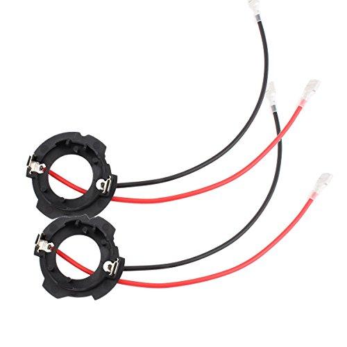 TOMALL H7 LED Retenedores del bulbo de la linterna del adaptador del tenedor de para Golf 5 MK5 GTI Jetta