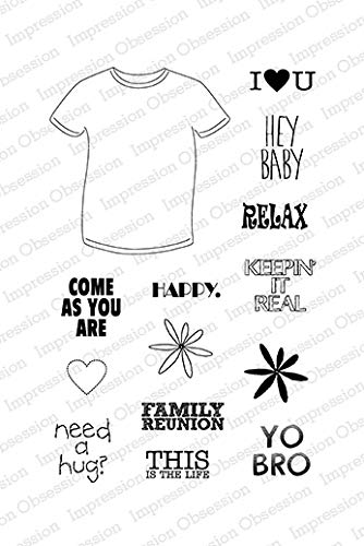 Impression Obsession CL626 T-Shirt Sayings Clear Stamp Set