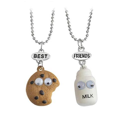 Lankater Keks Milch Halsketten-anhänger-Korn-Ketten-Halskette Bester Freund Mini Essminiaturen Schmuck