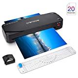 Laminator, Crenova A4 Laminator GS816, 4 in 1 Thermal Laminator, 9 Inches, 20 Laminating Pouches, Paper Trimmer, Corner Rounder