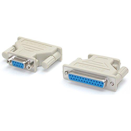 StarTech.com DB9 auf DB25 Seriell Kabeladapter, Seriell Adapter, Bu/Bu