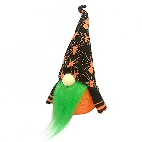 Dasongff Muñeca sin cara para decoración de Halloween, decoración de mesa de fiesta, enano, muñeca de peluche con luz, figuras de gnomo para escritorio, dormitorio, salón, chimenea