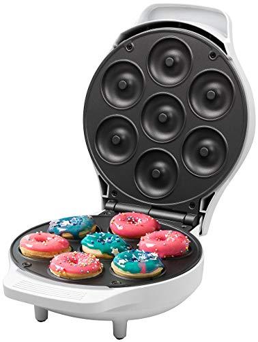 Rosenstein & Söhne Backform: Mini-Donut-Maker, antihaftbeschichtet, 1.000 Watt (Donut-Waffeleisen)