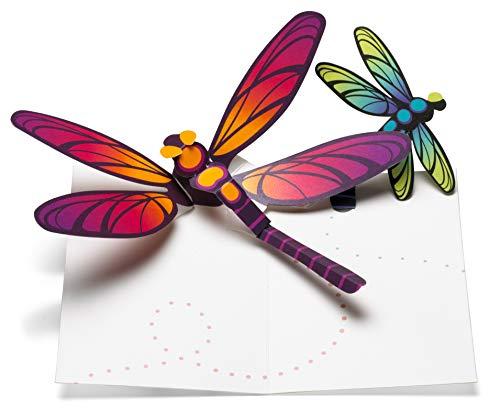 MoMA pop-up kaart libellen, wenskaarten, 6-delige kaartenbox, neutrale wenskaart