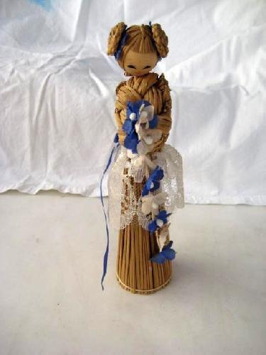 Muñeca - Doll : ORIENTAL. ARTESANIA EN ESPARTO