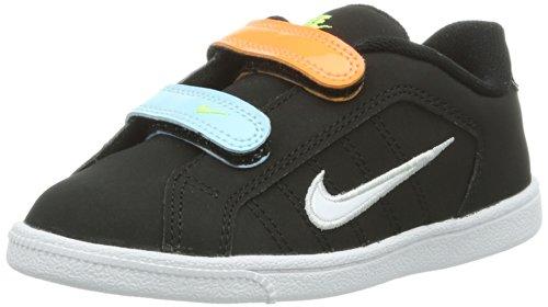 Nike Court Tradition 2 Plus (TDV) 408079-012 Scarpe Primi Passi Bambina, Nero (Schwarz (Black/White/Metallic Silver/Glacier Ice), 21