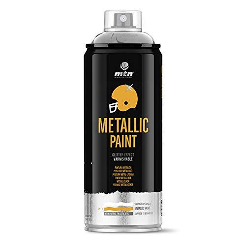 Montana Colors MTN PRO Metalizado Aluminio R-9006 400ml - Spray, Aluminio, 400 ml