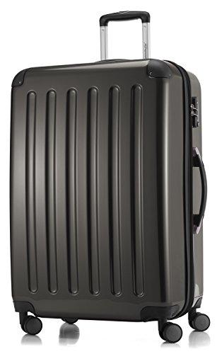 HAUPTSTADTKOFFER - Alex - 4 Doppel-Rollen Großer Hartschalen-Koffer Koffer Trolley Rollkoffer Reisekoffer, TSA, 75 cm, 119 Liter, Graphit