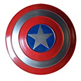 ABDOMINAL WHEEL Escudo Capitan America Metal 1:1 Cosplay Adulto Apoyos de Película Niños Hierro Forjado Capitán América Shield,Serie Avengers Legends, Réplica de Marvel Prop A,47.5CM