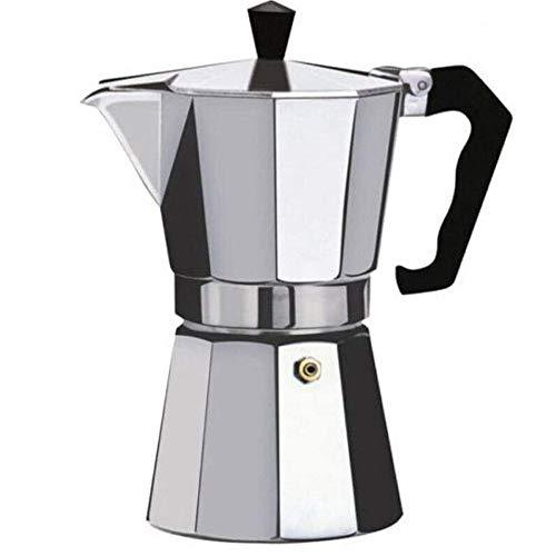 MiXXAR Espressokocher Kaffeekocher Mokkakanne aus Aluminium für Gas, Elektro-Herd und Ceran-Feld (Mokkakanne)